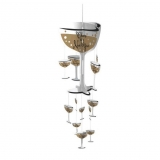 Champagne Glass Hanging Decoration