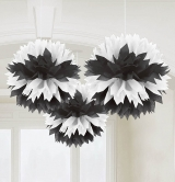 Black And White Fluffy Decoration