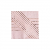 Amethyst-Pale Pink Stripped Cocktail Paper Napkins