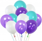 Balloon Promotions 20 Helium Latex Balloons Blue White,Purple light and dark
