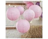 Boho Paper Lanterns-Baby Pink