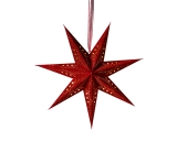 7-Arm Red Star With Glitter & LED's