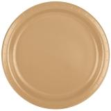 Heavy Duty Glittering Gold Dinner Paper Plates