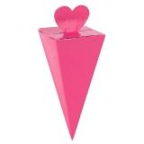 Bright Pink Favor Cone Box