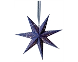 7-Arm Blue Star With Glitter & LED's