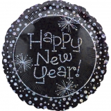 New Year Prismatic Foil Balloon