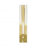 Party Porcelain Tapered Gold Candles