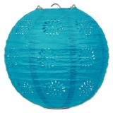 Turquoise Lace & Paper Lanterns