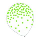 Kiwi Confetti Print Latex Balloon