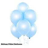 20 Helium Latex Balloons Satin Pearl Blue