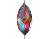 Hanging Multi Color Glass Lantern