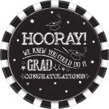 Hooray Grad Paper Plates