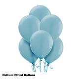100 Helium Latex Balloons Caribbean Blue