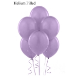 50 Helium Metallic Satin Pearl Lilac Latex Balloons