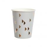 Wander Grey Triangle Paper Cups