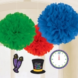 Colorful Happy New Year Fluffies with Danglers