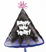 New Year Party Hat Foil Balloon