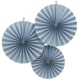 Pastel Perfections Blue Fan Decorations