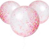 Pink Giant Confetti Balloon Kit