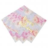 Happy Birthday Floral Napkins