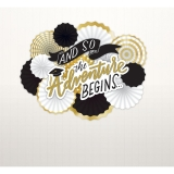Graduation Gold Fan Decorating Kit
