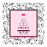 Sweet Wedding Dinner Paper Plates