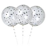 Silver Confetti Balloon Kit