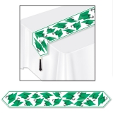 Printed Graduation Cap Table Runner Green