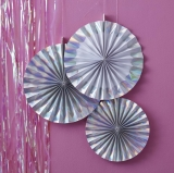 Iridescent Party Fan Decorations