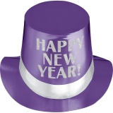 Purple Happy New Year Top Hat