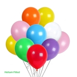 50 Helium Latex Balloons Mixed Colors