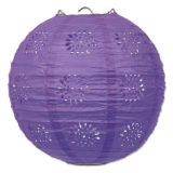 Purple Lace and Paper Lanterns