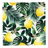 Tropical Palm Lemon Napkins