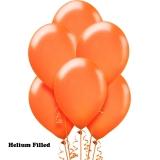 20 Helium Latex Balloons Orange