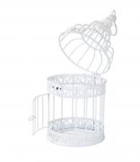 Be Happy White Bird Cage