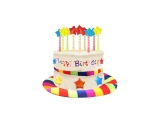 Rainbow Birthday Cake Hat with 9 Candles