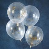 Gold Glitter Star Confetti Balloons