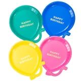 Bright Happy Birthday Balloon Plate