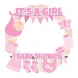 Girl Baby Shower Frame Large Size