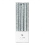 Luxe Silver Glitter Candles