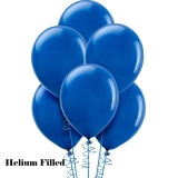 Balloon Promotions 20 Helium filled Latex Balloons Royal Blue