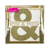 Say It with Glitter Mr and Mrs Glitter Banner