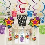 New Year Jewel Tone Swirl Decorations