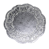 Silver Foil Doilies 10.25 inches 6 count