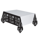 Happy New Year Disco Ball Drop Plastic Table Cover