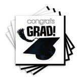 Congrats Grad White Lunch Napkin