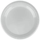 Shimmering Silver Heavy Duty Dinner Plastic Plates