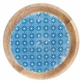 Large Moroccan Mango Plate Blue
