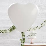 Balloons Huge Heart White