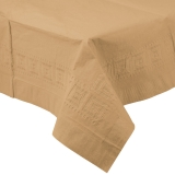 Glittering Gold Plastic Lined Table Cover